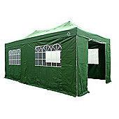 All Seasons Gazebos, Heavy Duty, Fully Waterproof, 3m x 6m Superior Pop up Gazebo Package in Green