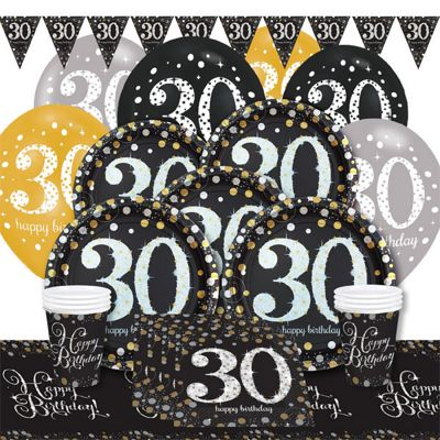 Sparkling Celebration 30th Birthday Party Pack - Deluxe Party for 8