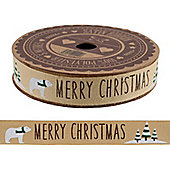 Polar Bear Christmas Ribbon