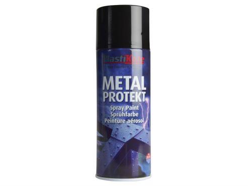 Plasti-kote Metal Protekt Spray Gloss Black 400ml