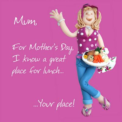 Holy Mackerel Happy Mother's Day. I Know A Great Place For Lunch. Your Place Greetings Card