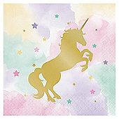 Unicorn Sparkle Luncheon Paper Napkins - 33cm