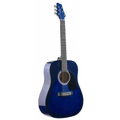 Stagg Dreadnought Acoustic Guitar – Dark blue – with 6 Months Free Online Music Lessons
