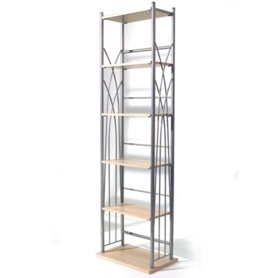 Techstyle 100 DVD / 150 CD Storage Tower Shelves - Silver