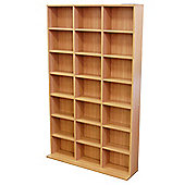 588 CD / 378 DVD Blu-ray Media Storage Unit - Oak