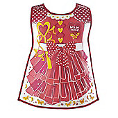 Cooksmart Children's PEVA Vinyl Tabard Apron, Red Princess Butterfly