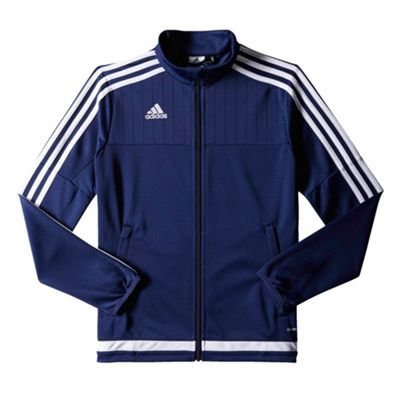 adidas Tiro 15 Kids Polyester Football Training Jacket Navy Blue - 7-8 Years