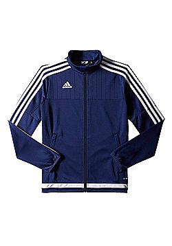 adidas Tiro 15 Kids Polyester Football Training Jacket Navy Blue - 7-8 Years