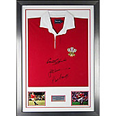 Wales Rugby Shirt Signed By 3 Welsh Legends JPR Williams, Edwards & Bennet