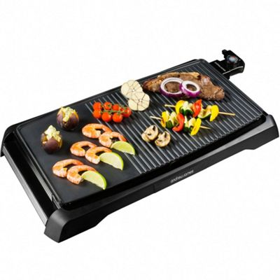 Andrew James Teppanyaki Grill - Electric Griddle with Non-Stick Plates & Carry Handles
