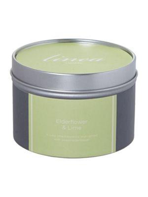 Linea Elderflower & Lime Tin Candle In Green