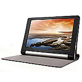Lenovo Yoga 10 Tablet Black Faux Leather Case Cover
