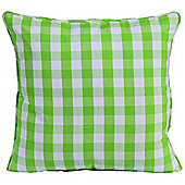 Homescapes Cotton Block Check Green Scatter Cushion, 60 x 60 cm