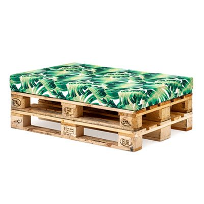 Palm Green Printed Water Resistant Pallet Furniture Seat Cushion Pad