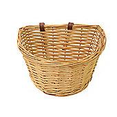 "Vintage Kids Wicker Front Bike Traditional Heritage Basket & Straps Small 11"""
