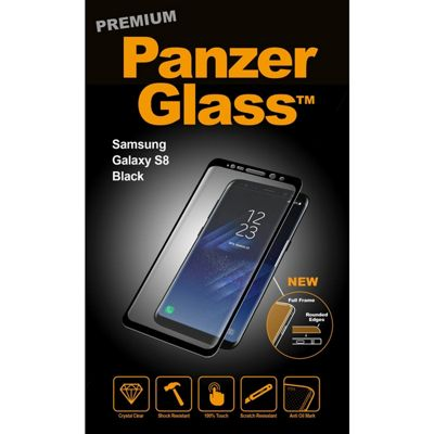 PanzerGlass 7114 Clear screen protector S8 1pc(s) Phone case for Samsung - Black