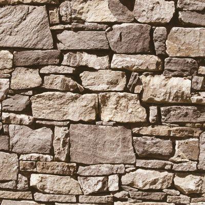 Muriva Dry Stone Wall Wallpaper Neutral - J494-07