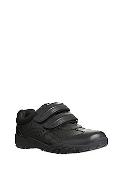 F&F Leather Riptape Trainers - Black
