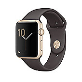Apple Series 2 (42mm) Watch with Gold Aluminium Case and Cocoa Sport Band