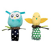 Bitty Birds Baby Wrist Rattle Set By Manhattan Toy