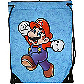 Nintendo Super Mario Bros Mario Gym Bag, Blue - Accessories