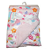 First Steps Cupcakes Supersoft Mink/Sherpa Reversible Baby Blanket