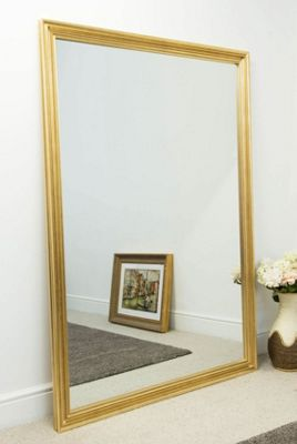 Large Gold Mirror Classically Designed Frame 6Ft6 X 4Ft6 (198 X 137cm)