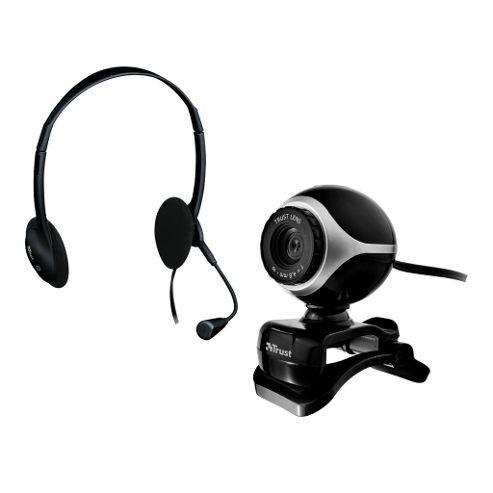 Exis Chatpack - Headset Headphones/Mic & Webcam