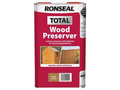 Ronseal Total Wood Preserver Light Brown 2.5 Litre