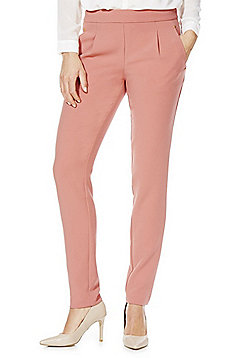 Vila Side Zip Tapered Trousers - Peach