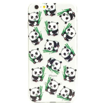 iPhone 6 Plus Cute Panda Pattern Clear Silicone Case - Multi