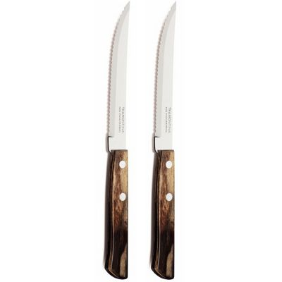 Tramontina Churrasco Set of 2 Steak Knives, Brown 29889/182