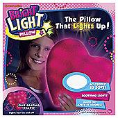 Bright Light Pillow Pink Beating Heart