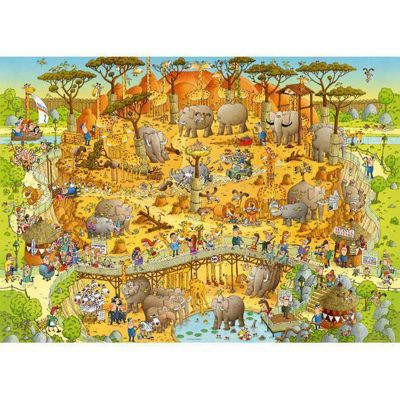 Funky Zoo - African Habitat - 1000pc Puzzle