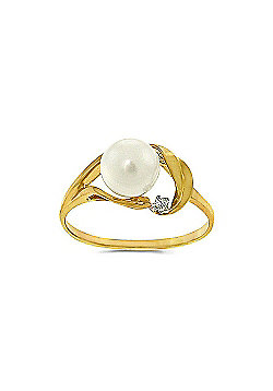 QP Jewellers Diamond & Pearl Ring in 14K Gold