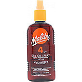 Malibu Sun Lotion SPF4 Low Protection 200ml Dry Oil Spray