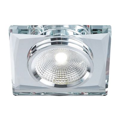Modern Clear Crystal Glass Dimmable LED Ceiling Downlighter Fitting
