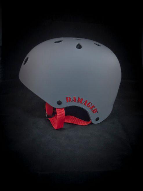 REAX Damaged Helmet 55-59cm Rubberised Grey
