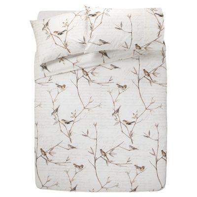 Tesco Woodland Birds Duvet Cover And Pillowcase Set Double