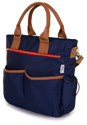 Babetta Baby Changing Bag Lightweight Satchel With Shoulder Strap + Changing Mat - Navy