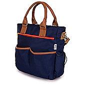 Babetta Baby Changing Bag Lightweight Satchel With Shoulder Strap + Changing Mat - Navy
