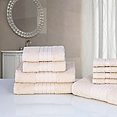 Dreamscene Luxury Egyptian Cotton Towel Bale 9 Piece Set - Natural