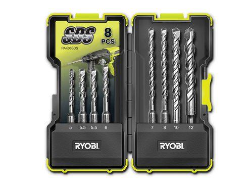 Ryobi RAK-08SDS SDS Drill Bit Set of 8