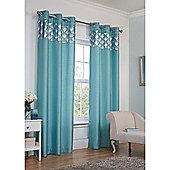 Hamilton McBride Astoria Eyelet Lined Curtains - Teal