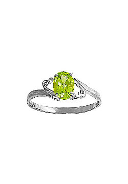 QP Jewellers 0.75ct Peridot Ring in Sterling Silver
