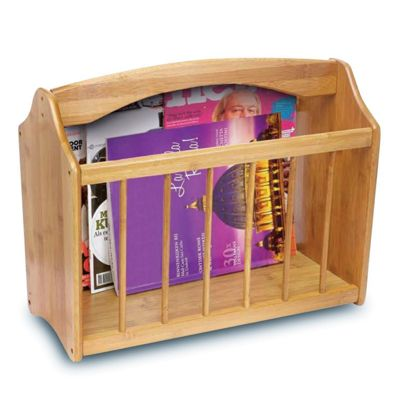 Top Home Solutions Bamboo Magazine Rack Storage