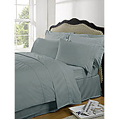 Dreamscene Highams 100% Egyptian Cotton Plain Dye Valance Sheet - Duck egg blue