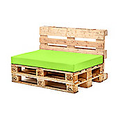 Lime Seat Fibre Printed Pallet Cushions Hollowfibre Garden Patio