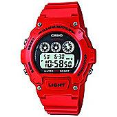 Casio Sports Mens Rubber Chronograph Watch W-214HC-4AVEF
