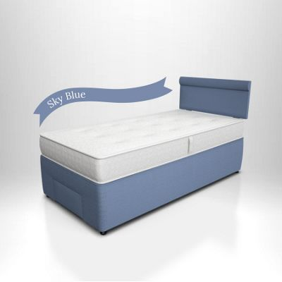 Potter Divan Bed Sky Blue - Front Drawer